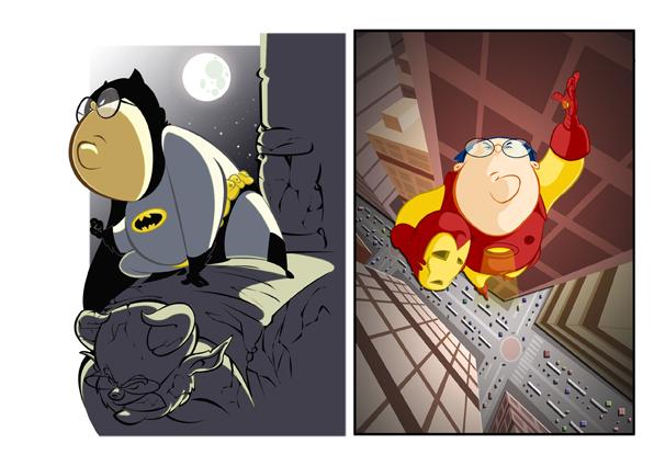 superheroes by fernandocobos