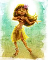 Hula Girl by IngvardtheTerrible