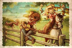 Cowboy Singer by IngvardtheTerrible