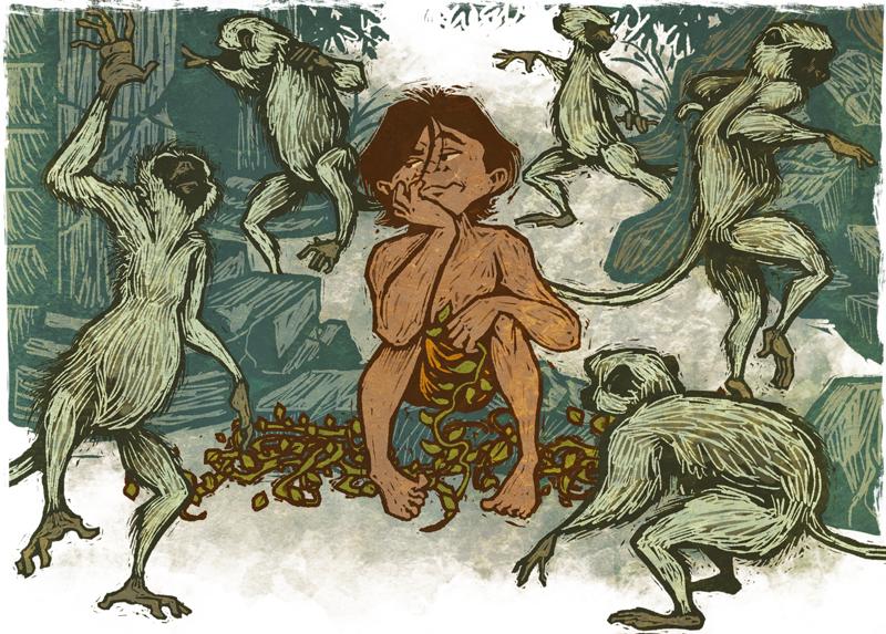 Mowgli and the Bandar Log