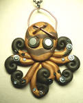 Steampunk Octopus Necklace