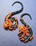 Orange Octopus Ear Plugs