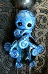 Blue Stone Octopus Magnet