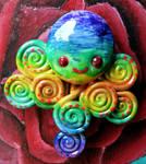 Rainbow Octopus Magnet