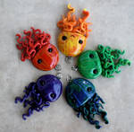 Multicolored Jellyfish Pendants