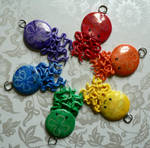 Rainbow Moon Jellyfish Necklace Set
