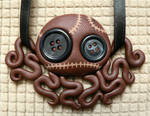 Brown Stitchpunk Octopus Doll Necklace