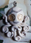 White Stitchpunk Octopus Necklace