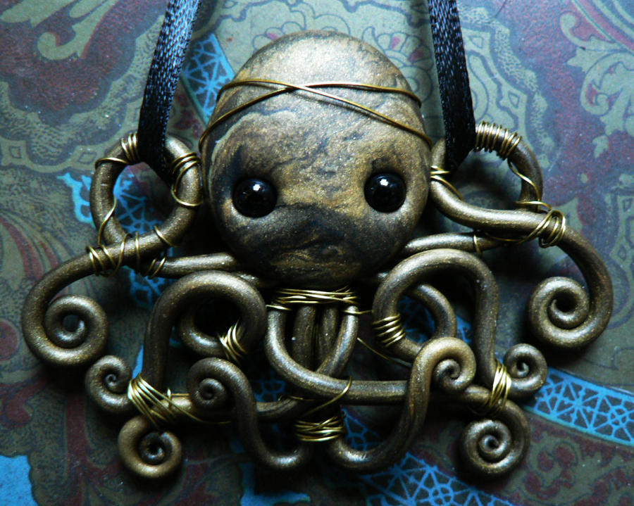 Gold Wire Wrapped Octopus by BlackMagdalena