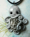 Gray Barnacled Octopus Necklace