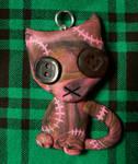 Pink Stitchpunk Kitty Pendant