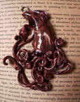 Brown Kraken Squid Pendant