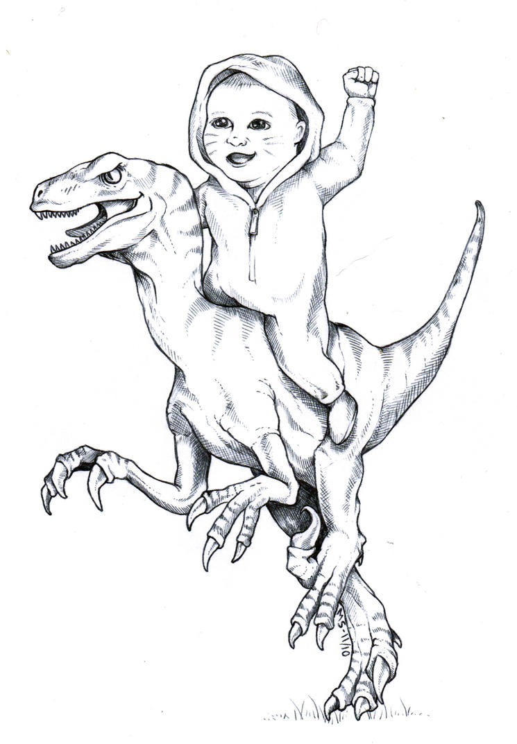 how to draw a velociraptor from jurassic park