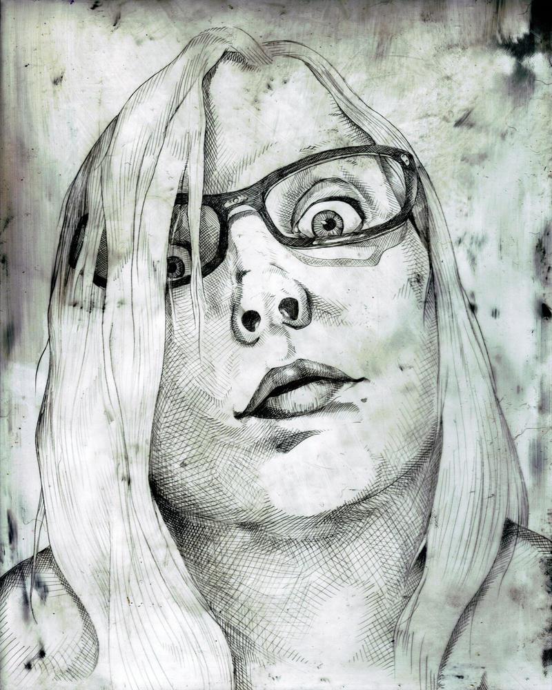 Plexiglass Self Portrait by BlackMagdalena