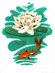 Pochoir Fish and Lily