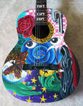 Painted Guitar :close up: