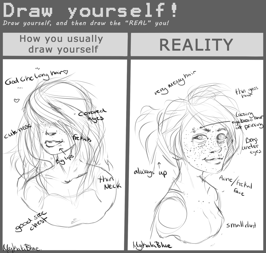 Draw Yourself Meme Oh Yes By MykalaBlue On DeviantArt - Hairstyle drawing meme