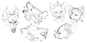 Ych Batch cat/dog by MykalaBlue