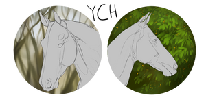 HORSE ICON YCH OPEN (sale) by MykalaBlue