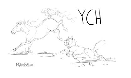 HORSE/ CANINE  YCH (OPEN) by MykalaBlue
