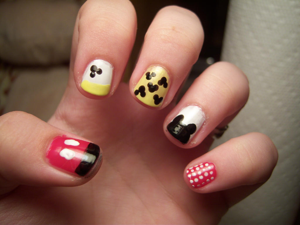 Mickey Mouse Inspired Nail Art By A Lyss A On Deviantart