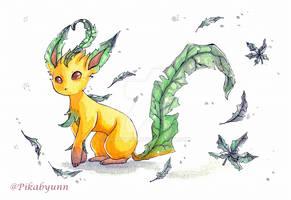 Watercolour Eeveelutions - Leafeon