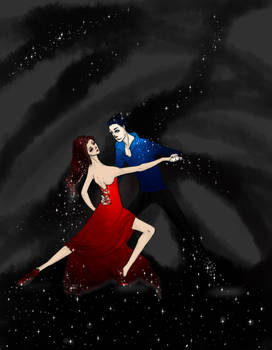 dance of two galaxies