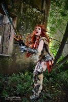 Female Barbarian from Diablo 3 (Sonya) by Brynhild by Brynhild-Undomiel