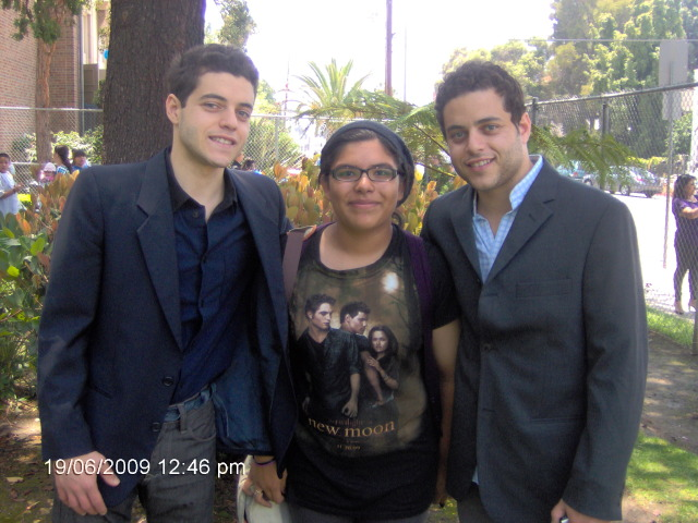 Rami Malek,me,and Sami Malek by ILoveCP