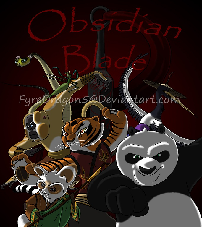 Obsidian Blade Cover Art by FyreDragon5