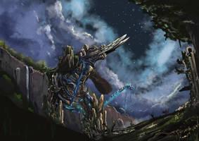 Behemoth in Eden by ceruleanflux