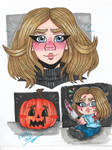 Laurie Strode doodles