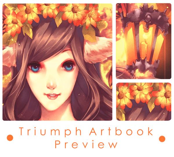 Triumph Artbook Preview: Enchanted Autumn by naochiko