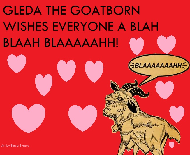 Gleda the Goatborn Valentine by heiwako