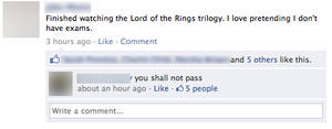 Lord of the rings FB 1 by Greeneyesmetblack