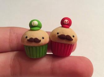 Mario and Luigi Cupcakes Remake by AlphaChoconess95