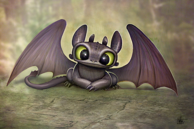 Baby Toothless by Nszerdy on DeviantArt