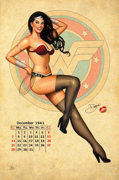Wonder Woman Pinup By Nszerdy On Deviantart