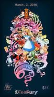 Alice in Wonderland TeeFury.com by Nszerdy