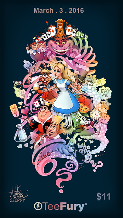 Alice in Wonderland TeeFury.com by Nszerdy