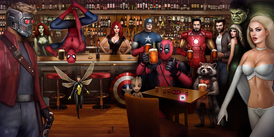 Marvel Bar Scene By Nszerdy On Deviantart