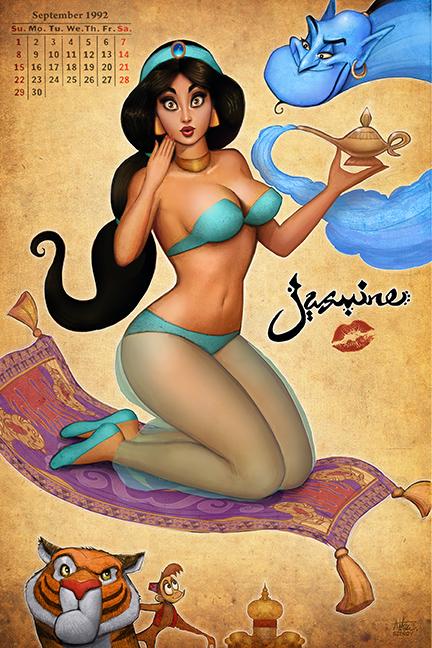 Princess Jasmine Pinup By Nszerdy On Deviantart-3805