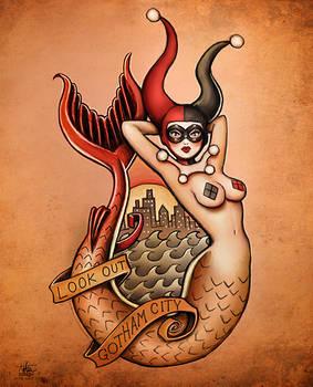 New Harley Quinn Art (After Sailor Jerry)