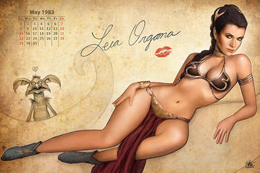 Leia Pinup Calendar by Nszerdy