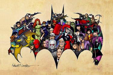 DC Batman Collage