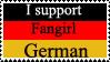 Fangirl German stamp by SparklinBurgndy