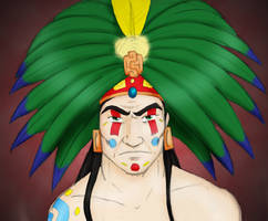 Mayan Priest Nathan Explosion by SparklinBurgndy