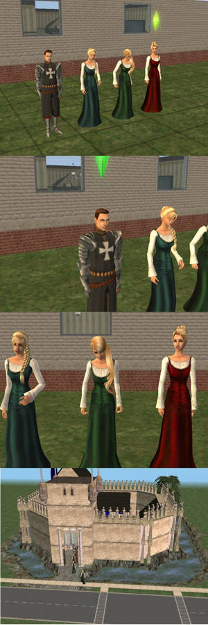 Sir Charles and  his Triad of Wenches