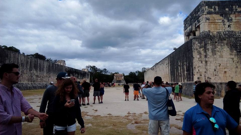 Ball Court at Chichen Itza by SparklinBurgndy