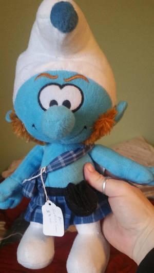 Gutsy Smurf plush